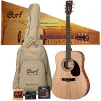 Pack guitare folk Cort Earth Pack - Natural open pore
