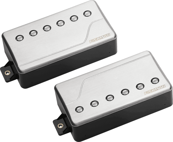 Micro guitare electrique Fishman                        Fluence Classic Humbucker set Brushed Stainless