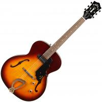 Guitare électrique hollow body Guild T-50 Slim +case - Vintage sunburst