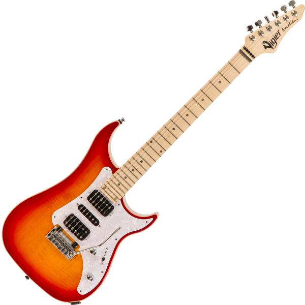 Guitare électrique solid body Vigier                         Excalibur Special (MN) +Case - Fireburst