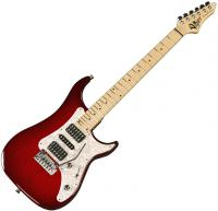 Guitare électrique solid body Vigier                         Excalibur Supra (MN) - Clear red