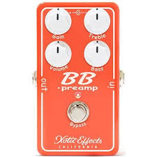 Pédale overdrive / distortion / fuzz Xotic BB Preamp pour guitare