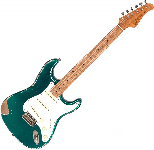 Guitare électrique solid body Xotic California Classic XSC-1 Alder #1629 - Heavy aging candy apple green