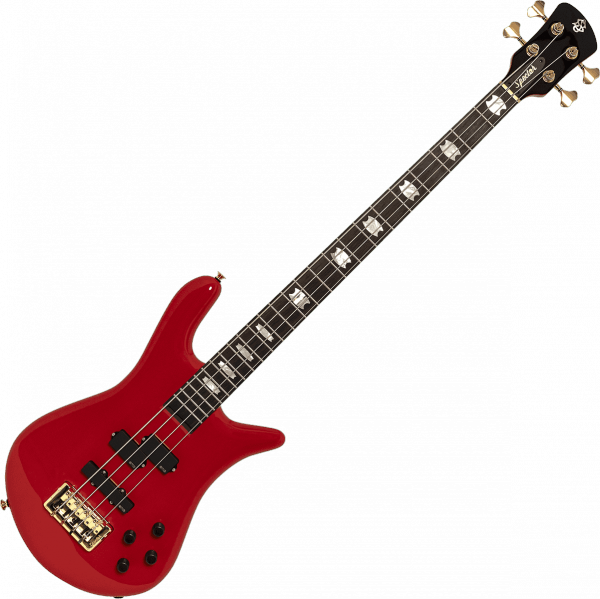 Basse électrique solid body Spector                        EURO SERIE CLASSIC 4 - Solid red gloss