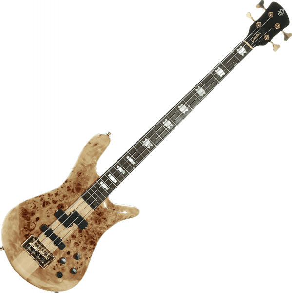 Basse électrique solid body Spector                        EURO SERIE LX 4 - Poplar burst natural gloss