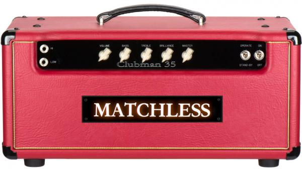 Tête ampli guitare électrique Matchless Clubman 35 Head - Red/Silver