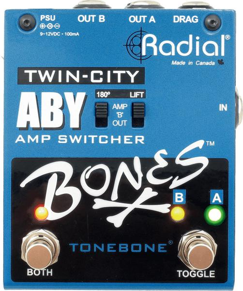 Footswitch ampli Tonebone                       Bones Twin-City (ABY Amp Switcher)