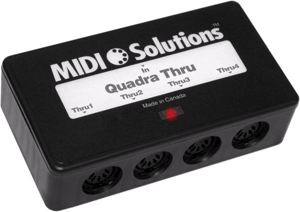 Interface midi Midi solutions Quadra Thru
