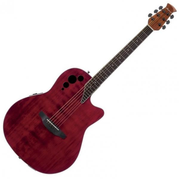 Guitare folk & electro Applause AE44II Mid Cutaway - Ruby red