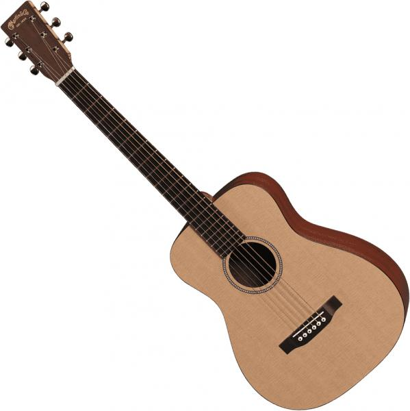 Guitare acoustique voyage Martin LXME Little Martin Gaucher +Bag - Natural satin