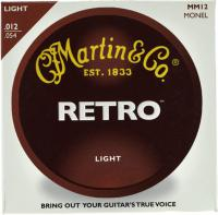 Cordes guitare folk  Martin guitar Retro MM12 Acoustic Guitar Light 12-54 - Jeu de cordes