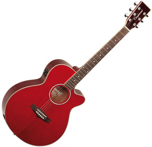 Guitare folk & electro Tanglewood TSF CE R Evolution IV Super Folk CW - Red