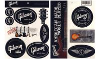 Autocollant & stickers Gibson Merchandising (Autocollants) - Gibson Sticker Sheet