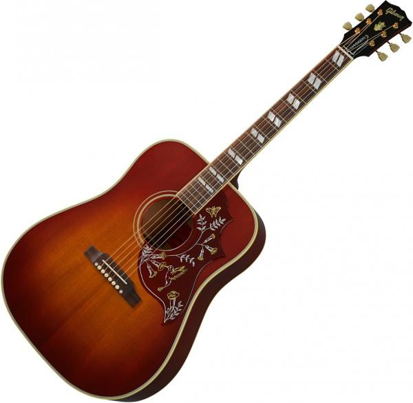 Guitare folk & electro Gibson Custom Shop 1960 Hummingbird Fixed Bridge - Vos heritage cherry sunburst