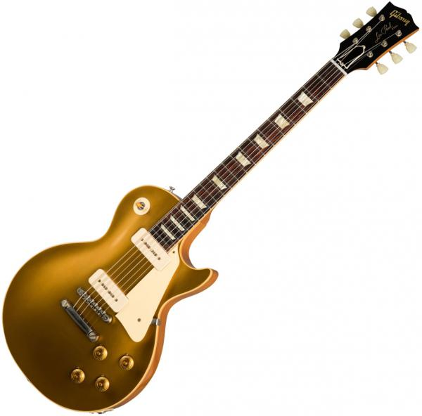 Guitare électrique solid body Gibson Custom Shop 1956 Les Paul Goldtop #67049 - Vos antique gold