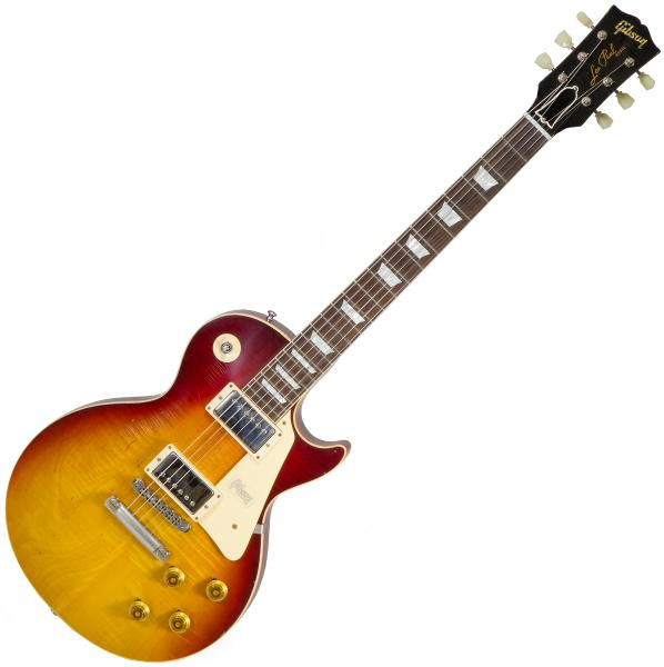 Guitare électrique solid body Gibson Custom Shop 1958 Les Paul Standard Reissue #88713 - Aged vintage cherry burst