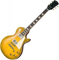 Guitare électrique solid body Gibson Custom Shop 60th Anniversary 1959 Les Paul Standard (Bolivian RW) - Green lemon fade