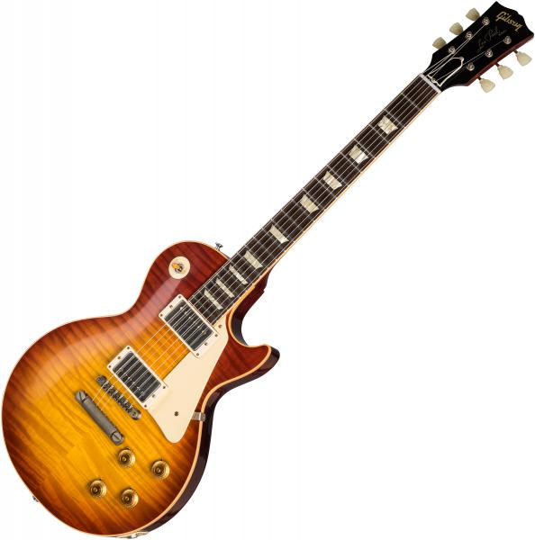 Guitare électrique solid body Gibson Custom Shop 60th Anniversary 1959 Les Paul Standard (Bolivian RW) - Vos sunrise teaburst