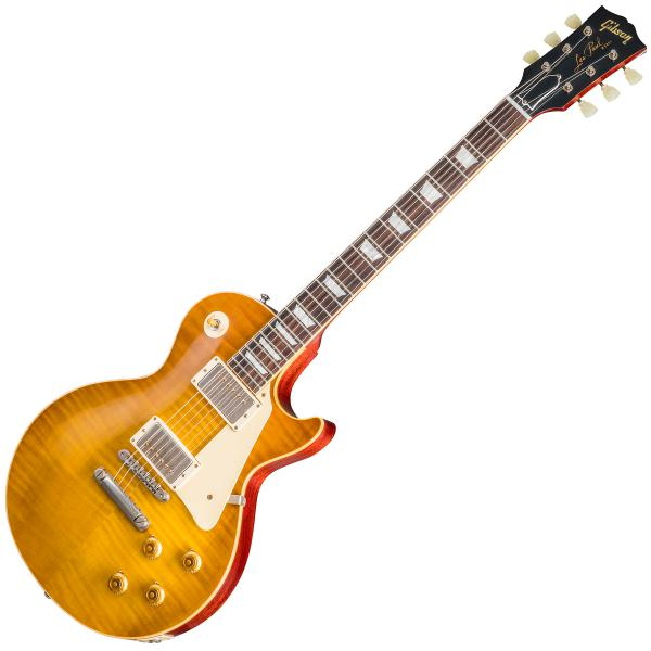 Guitare électrique solid body Gibson Custom Shop Burstdriver Les Paul Standard - Vos amber ale