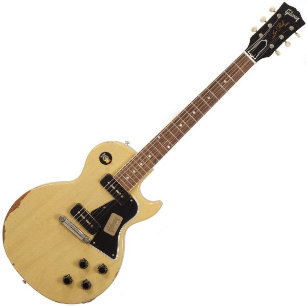 Guitare électrique solid body Gibson Custom Shop M2M 1960 Les Paul Special SC - Heavy aged tv yellow