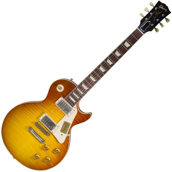 Guitare électrique solid body Gibson Custom Shop M2M 1959 Les Paul Standard #943060 - Lightly aged iced tea