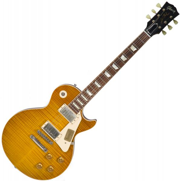 Guitare électrique solid body Gibson Custom Shop M2M 1959 Les Paul Standard #943076 - Lightly aged lemon burst