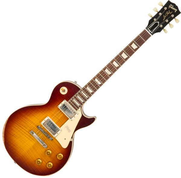 Guitare électrique solid body Gibson Custom Shop M2M 60th Anniversary 1959 Les Paul Standard #993518 - Heavy aged faded tobacco burst