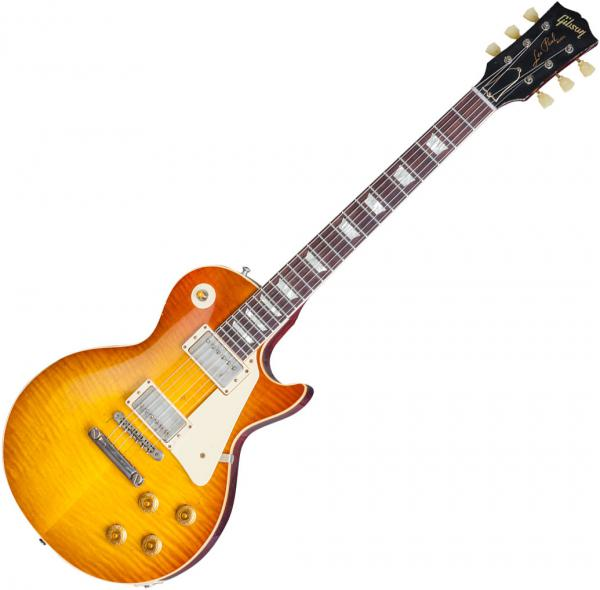 Guitare électrique solid body Gibson Custom Shop Mick Ralphs 1958 Gibson Les Paul Standard Replica - Aged ralphs burst