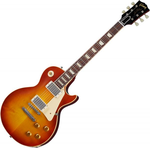 Guitare électrique solid body Gibson Custom Shop Murphy Lab 1958 Les Paul Standard Reissue - Ultra light aged washed cherry sunburst