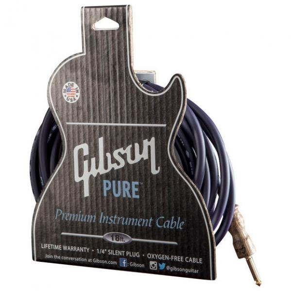 Câble Gibson Pure Premium Instrument Cable 18ft / 5.49m - Dark Purple