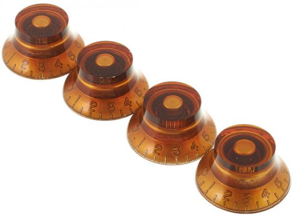 Bouton  Gibson Top Hat Knobs 4-Pack - Vintage Amber