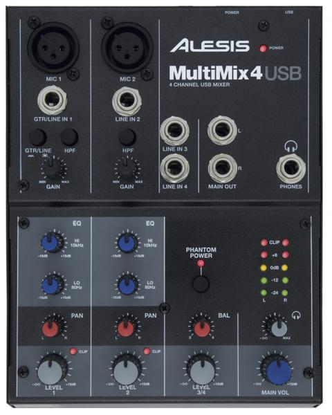Table de mixage analogique Alesis Multimix 4 USB