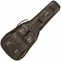 Housse guitare folk X-tone 2035 FOL-BK Deluxe Leather Acoustic Dreadnought Guitar Bag - Matt Black