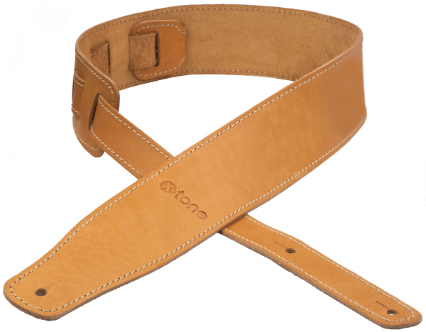 Sangle courroie X-tone xg 3150 CLASSIC LEATHER GUITAR STRAP CUIR 6.5CM BROWNSTONE