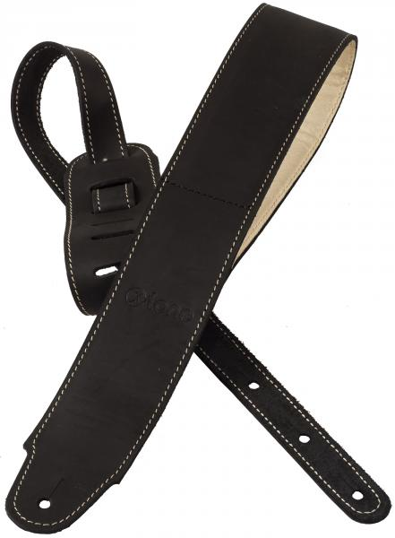 Sangle courroie X-tone xg 3157 Classic Plus Leather Guitar Strap - Black