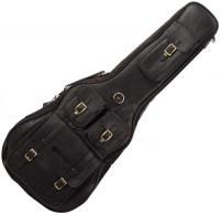 Deluxe Leather Dreadnought Guitar Bag - Black