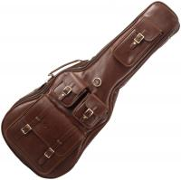 Deluxe Leather Dreadnought Guitar Bag - Medium Brown