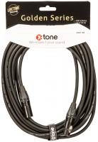 Câble X-tone X3001-10M - XLR(M) / XLR(F) Golden Series
