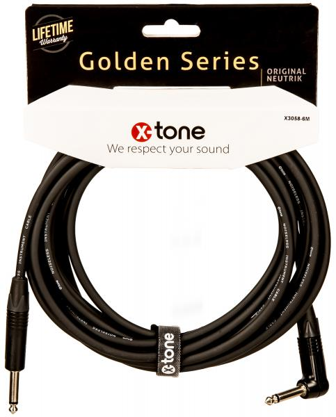 Câble X-tone X3058-6M Instrument Cable Right/Angled 6m
