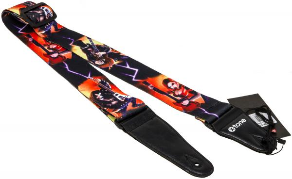 Sangle courroie X-tone XG 3105 Nylon Guitar Strap Alien - Black & Red