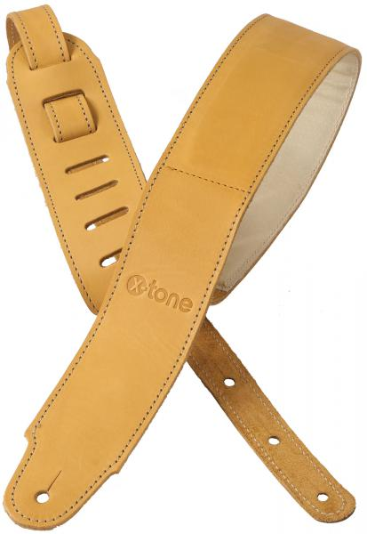 Sangle courroie X-tone xg 3154 Plus Leather Guitar Strap - Brownstone Beige