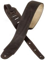 Courroie sangle X-tone xg 3156 Classic Plus Leather Guitar Strap - Dark Brown