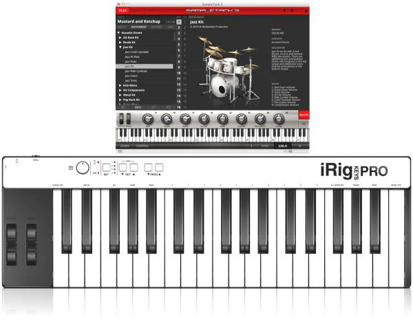 Clavier maître Ik multimedia iRig Key Pro + SampleTank 3 Bundle