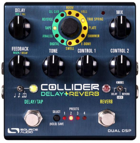 Pédale reverb / delay / echo Source audio Collider Delay+Reverb
