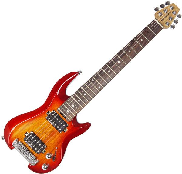 Guitare électrique voyage Dv mark DV Little Guitar G1 - Cherry red sunburst