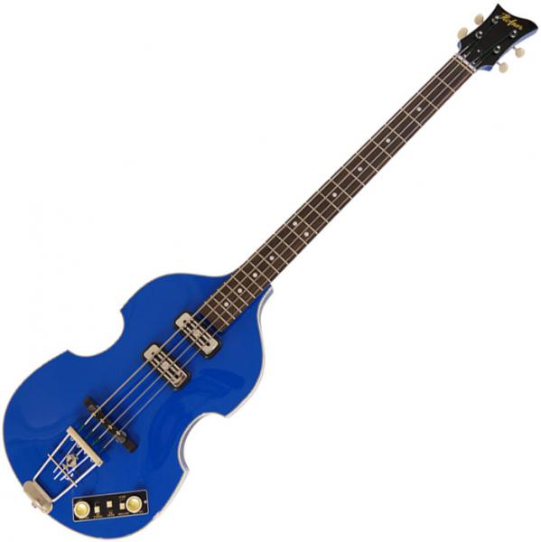 Basse électrique hollow body Hofner Violin Bass Gold Label - Royal blue