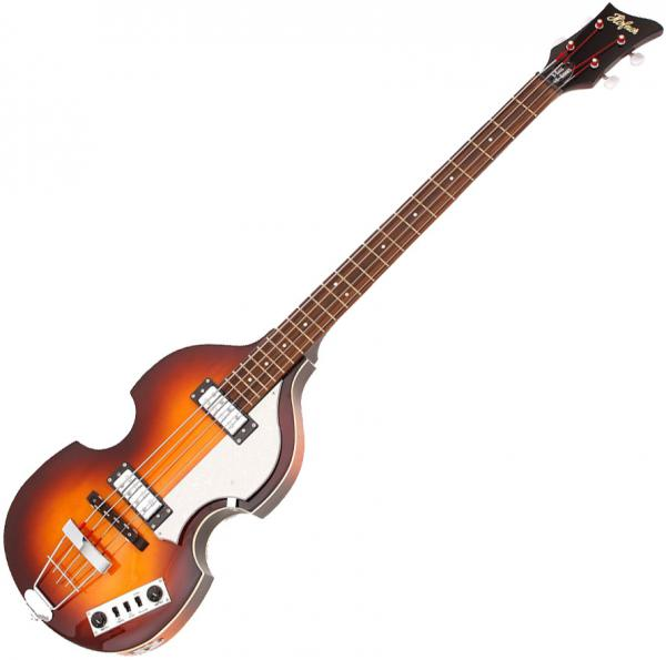 Basse électrique hollow body Hofner Violin Bass Ignition - Sunburst