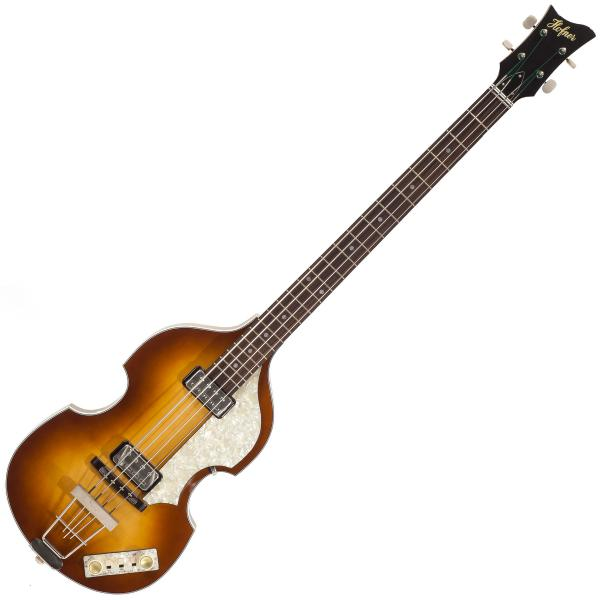 Basse électrique hollow body Hofner Violin Bass Mersey H500/1-62-0 - Vintage sunburst