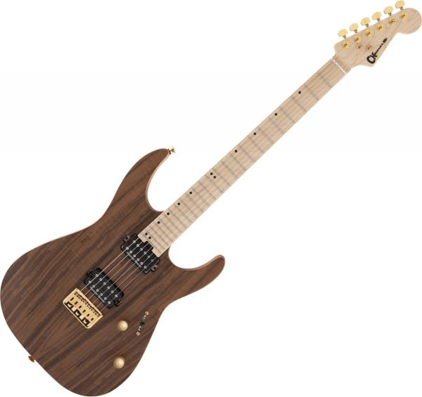 Guitare électrique solid body Charvel Pro-Mod DK24 HH HT M Mahogany with Figured Walnut - Natural