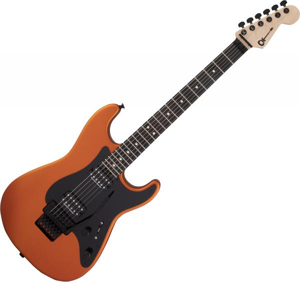 Guitare électrique solid body Charvel Pro-Mod So-Cal Style 1 HH FR E - Orange blaze satin